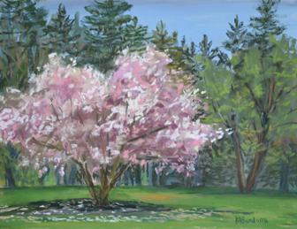 Spring's First Blush, 9x12 inches, En Plein Air