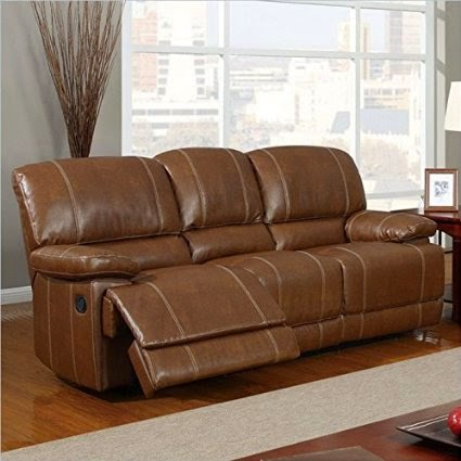 Global Brown Seth Genuine Leather Reclining Sofa Review