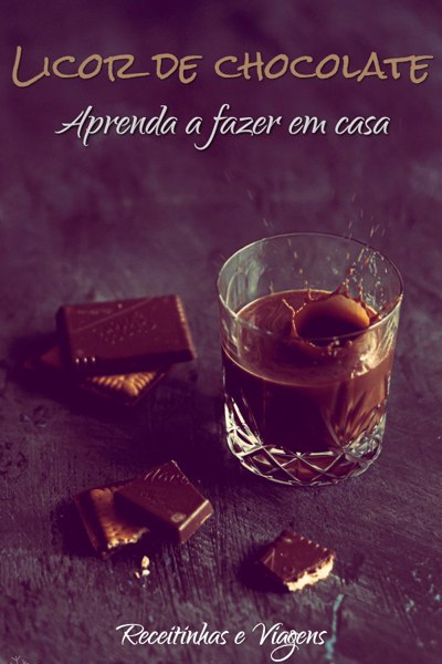 Aprenda a fazer esta receita de licor de chocolate caseiro.