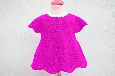 6 - Crochet Imagen Vestido rojo navideño en conjunto con capa por Majovel Crochet