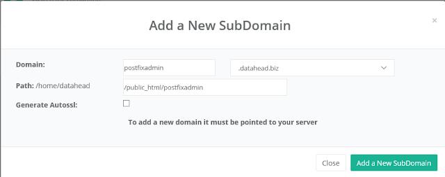 add a subdomain