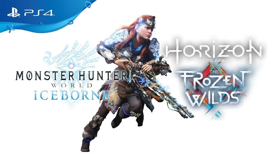 monster hunter world iceborne horizon zero dawn the frozen wilds crossover event dlc ps4 action rpg capcom aloy