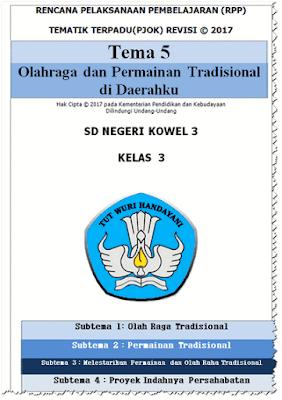 RPP PJOK Kelas 3 SD/MI Kurikulum 2013 Revisi 2017 Lengkap