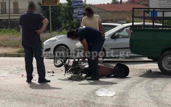 Στυλίδα: Τραυματίστηκε ντελιβεράς σε τροχαίο