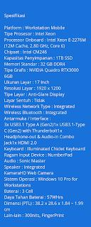 Spesifikasi laptop asus proart studiobook