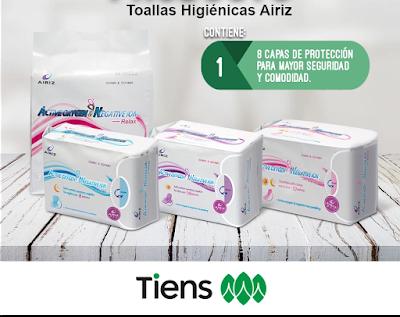 Toallas higiénicas Airiz, ultra delgada, súper absorbente