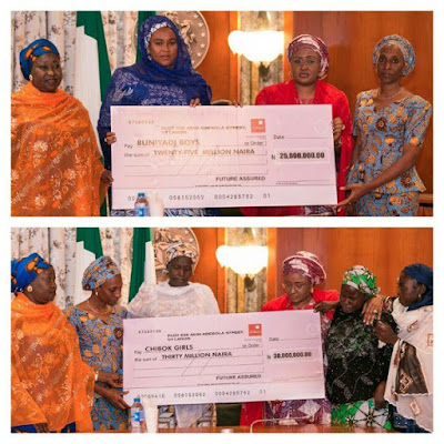 Aisha Buhari donates N55m to Chibok and Buni Yadi parents