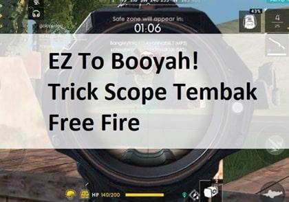 tutorial trick scope free fire