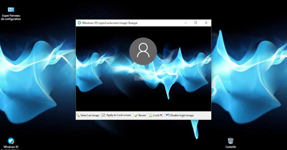 Le blog de Wilou: Windows 10 - Changer le papier peint de l'écran de login