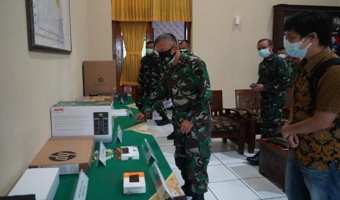 Korem 064/MY Menerima Sarpras Penerimaan Prajurit TNI Dari Mabes TNI