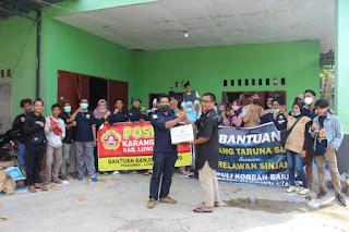 Peduli,Karang Taruna Kabupaten Sinjai Meyerahkan Langsung bantuan Paket Sembako Ke Posko  Luwu Utara