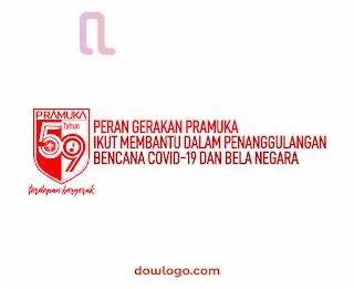 Logo HUT Pramuka 59 dan Tema Vector Format CDR, PNG