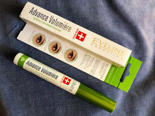 Odżywka do rzęs Advance Volumiere Eveline skoncentrowane serum do rzęs 3w1 opakowanie