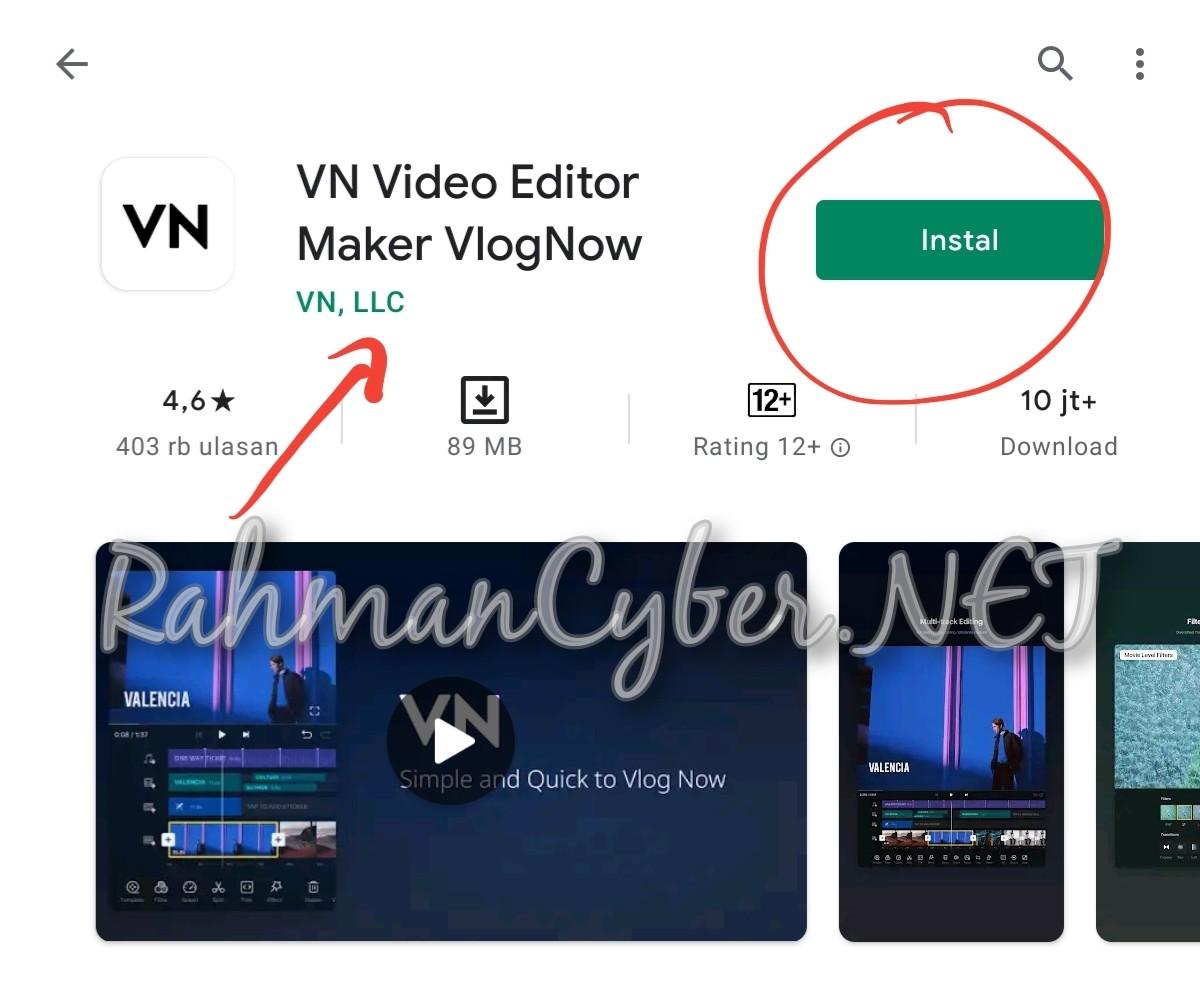 Editing Video VN {VlogNow)