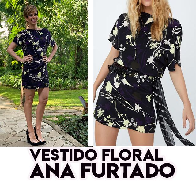 O vestido floral da Ana Furtado no É de Casa