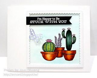 Laina Lamb Design Sweet Succulents stamp set and Stitched Square Scallop Frames Die-namics - Ann Chuang #mftstamps