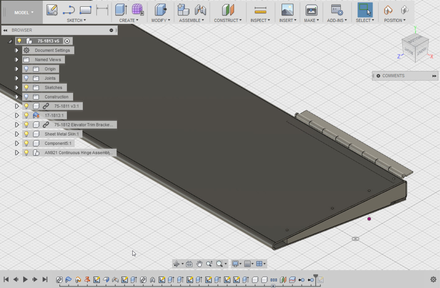 Placing an Assembly into a New Design in Fusion 360