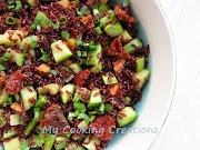 Червен пълнозърнест ориз със зеленчуци * Insalata di riso rosso con verdure