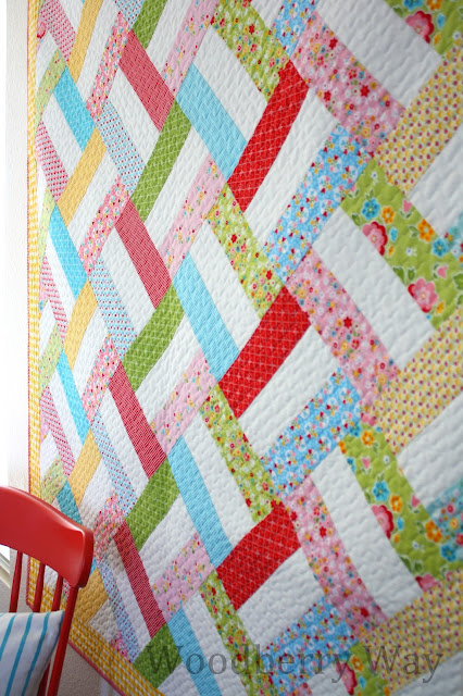 Baby Basket - an easy strip quilt pattern from Woodberry Way