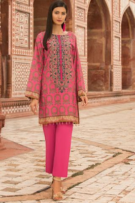Warda Embroidered pink color khaddar suit winter unstitched collection