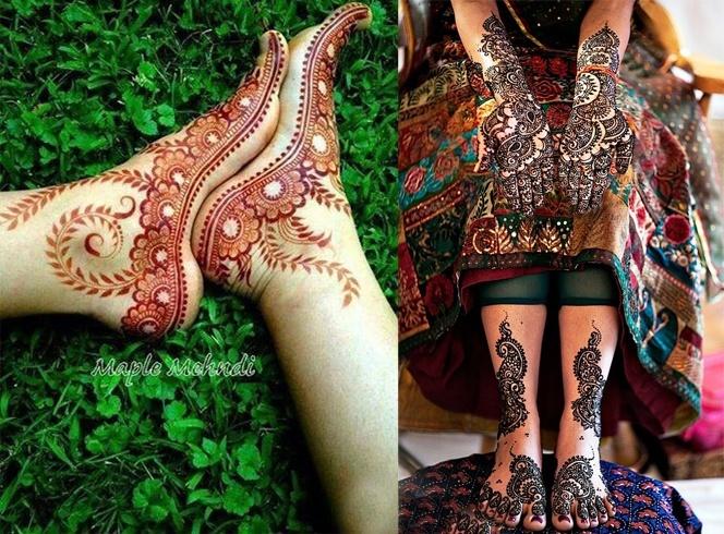 Henna Mehendi Designs On Feet