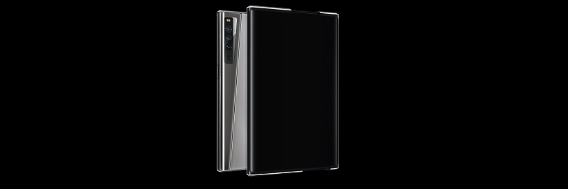 The OPPO X 2021 rollable concept smartphone