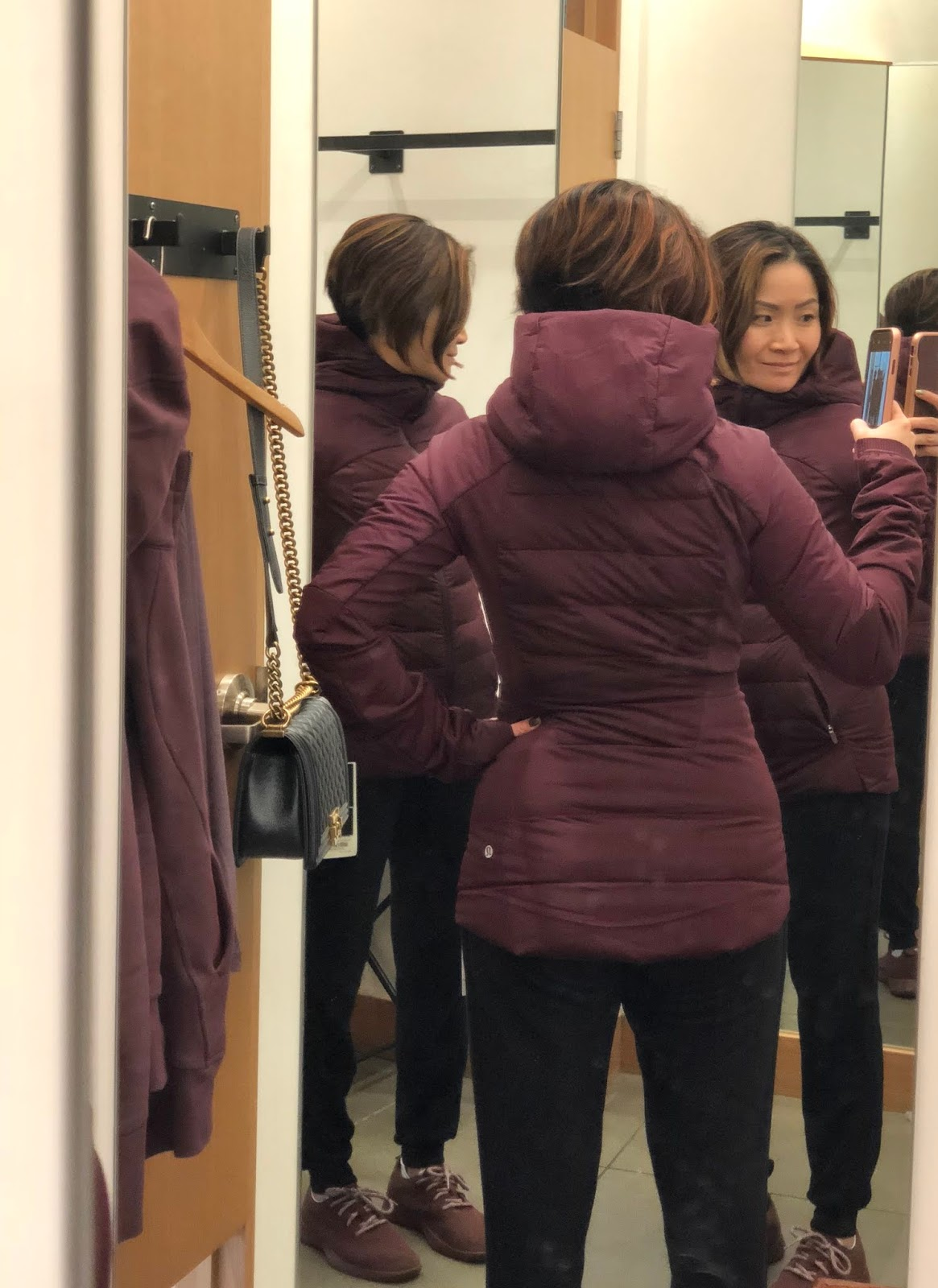 6cddb32cd Petite Impact: Store Fit Review! Down For It All Jacket in Dark Adobe