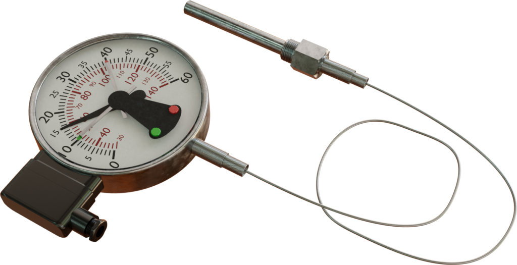 Termometer diisi gas dengan kontak saklar