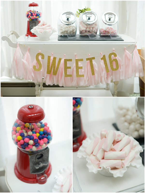 Sweet 16 Birthday Party Ideas and Printables - via BirdsParty.com
