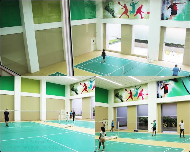 V Club indoor badminton courts