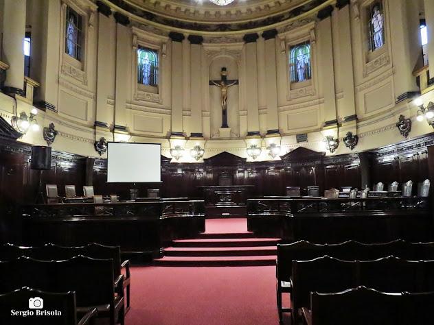 Vista ampla do Tribunal do Juri - Palácio da Justiça - Centro - São Paulo