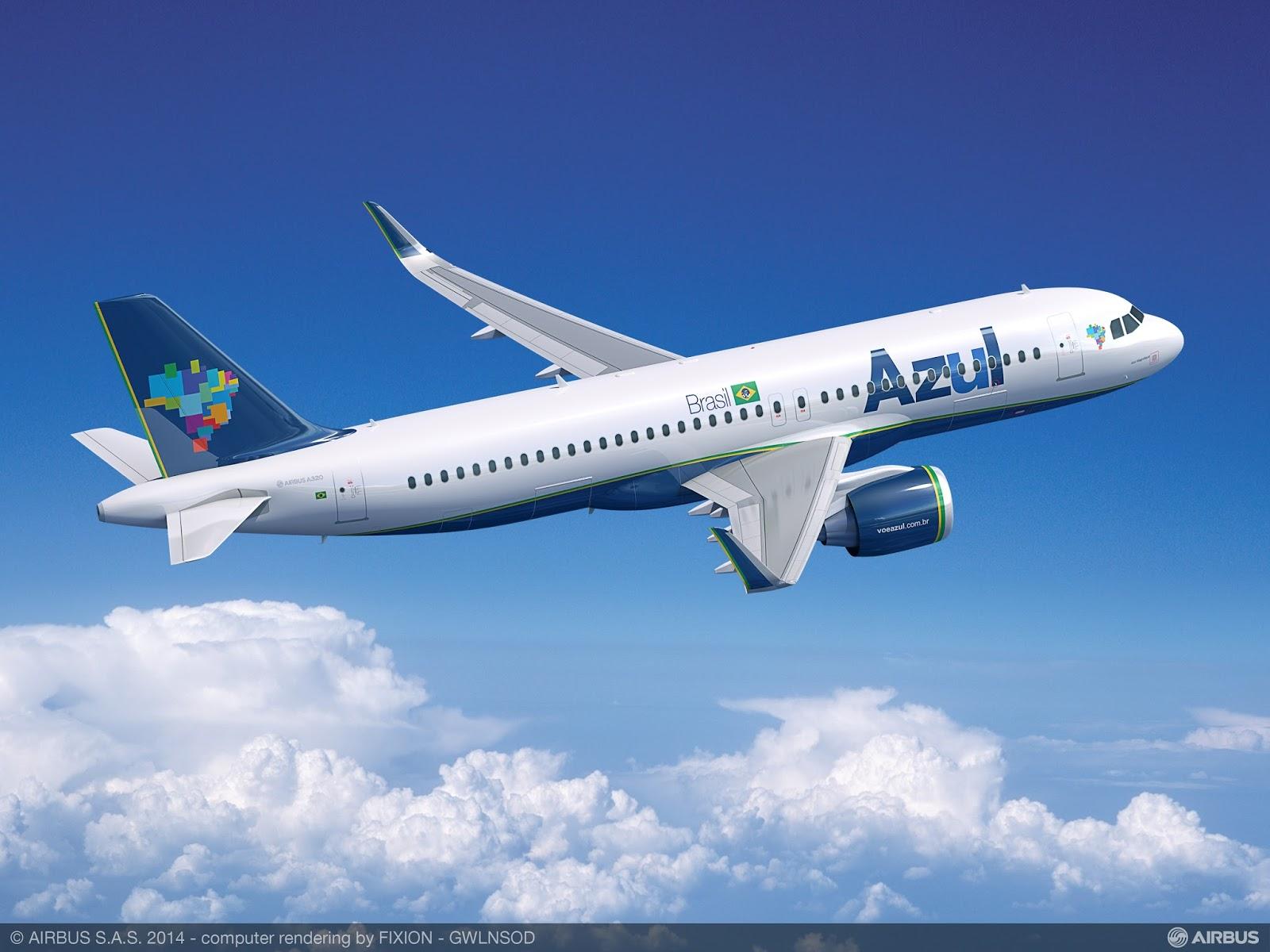 Azul divulga a previsão de chegada e destinos com os Airbus A320neo