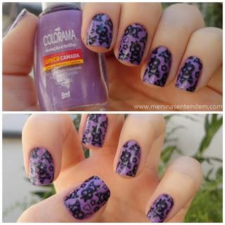 unhas de caveirinha, violeta da colorama