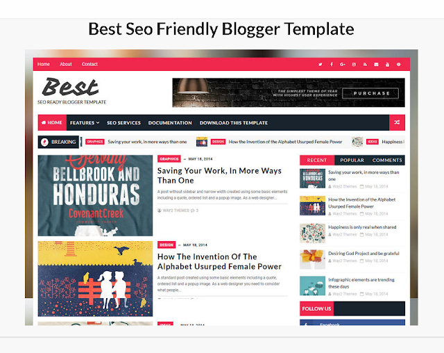 Free blogger templates 2020 | best templates for free blogger websites