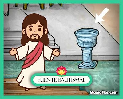 La Fuente Bautismal — Partes del Templo