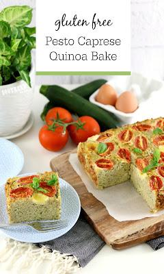 Gluten Free Pesto Caprese Quinoa Bake Recipe