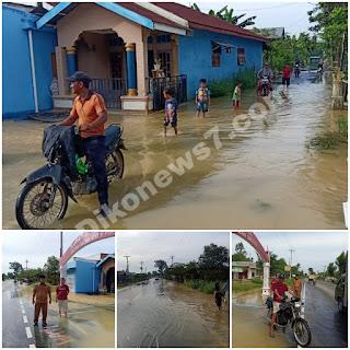 Hujan 1 jam, Desa Paluh Manis Gebang Kebanjiran
