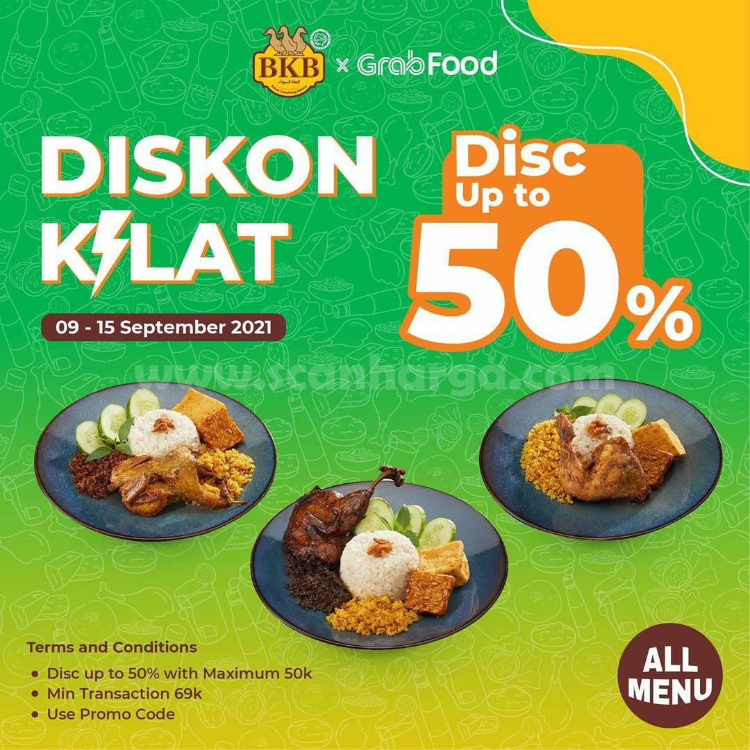 BEBEK BKB Promo Diskon Kilat 9.9 up to 50% via GRABFOOD