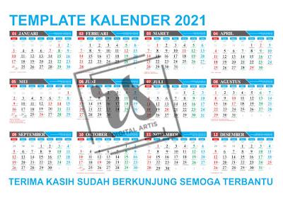 Template Kalender 2021 Lengkap Jawa, Hijriyah, Masehi ...