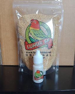 Doping lb konslet Serbuk Luhur Tetes Cair dan Milet Luhur Lovebird Paket Hemat Murah