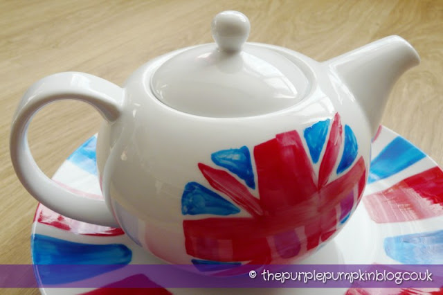Diamond Jubilee Hand Painted Crockery Teapot