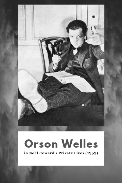Orson Welles preparing for a radio play