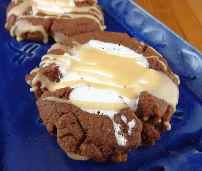 Chocolate Fluffernutter Cookies