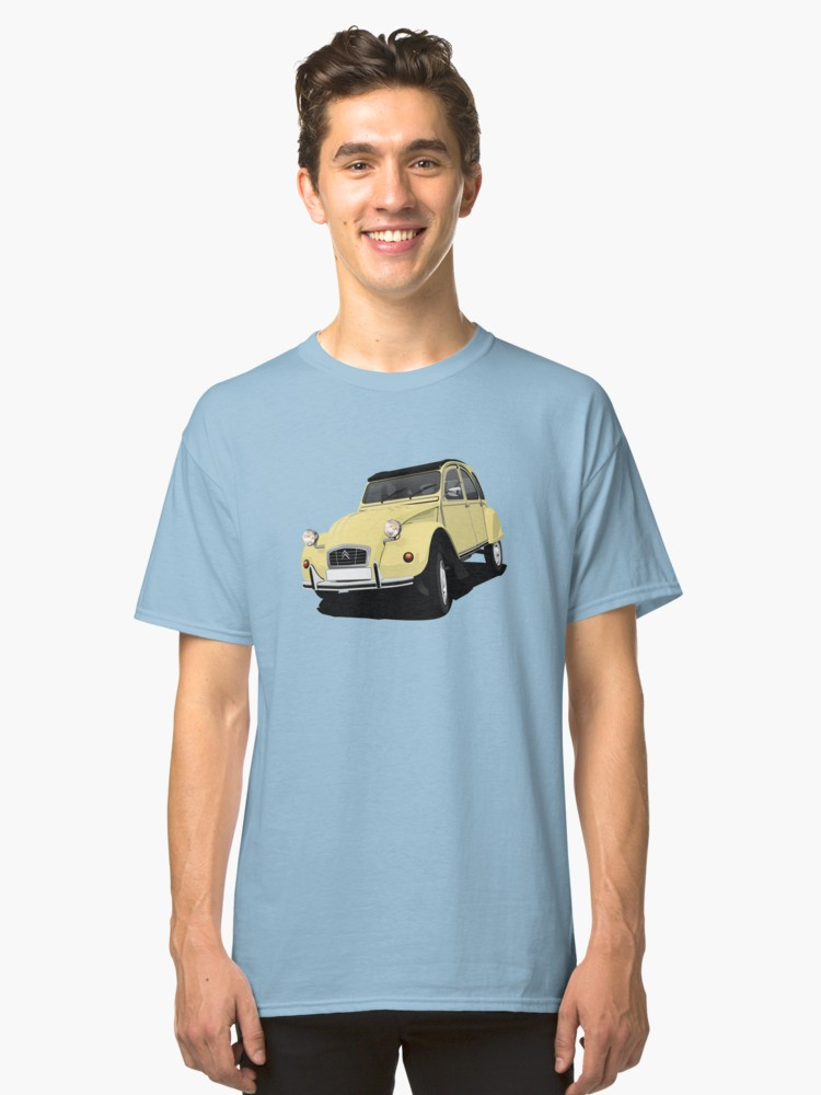 Light yellow Citroën 2CV T-shirt