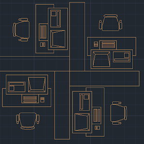Office furniture dwg autocad blocks
