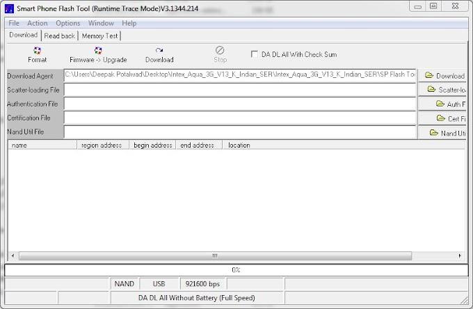 Intex Aqua 3G hang on logo Flash File With SP Fpash Tool farmware