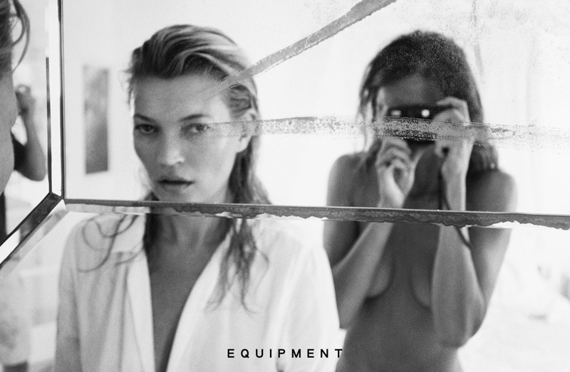 Kate Moss and Daria Werbowy get intimate for Equipment Spring 2016 Campaign