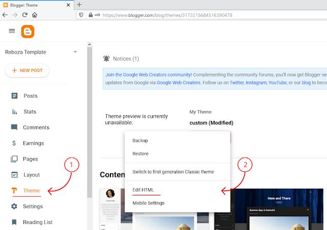 panduan mendesain template blog sendiri