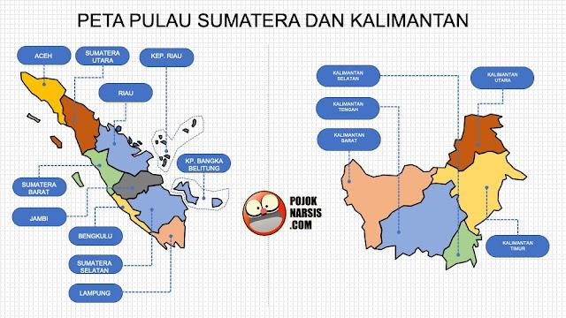 peta pulau sumatera dan kalimantan pptx