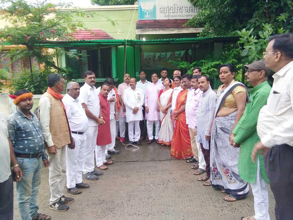 jhabua news-भारतीय जनता पार्टी ने ध्वजारोहण कर मनाया जश्ने आजादी